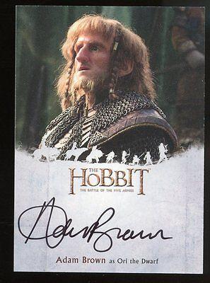 The Hobbit Battle of the Five Armies AUTO Autograph - Adam Brown as ORI