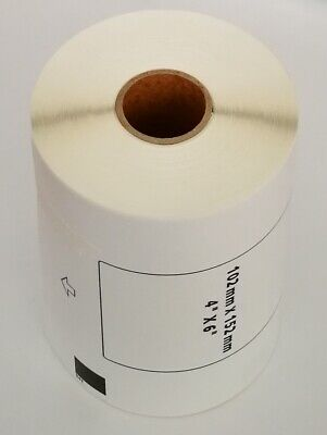 Compatible Brother Dk-1241 4 X 6 Inch White Paper Shipping Label No Cartridge