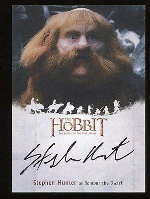 The Hobbit Battle of the Five Armies AUTO Autograph - Stephen Hunter BAMBUR