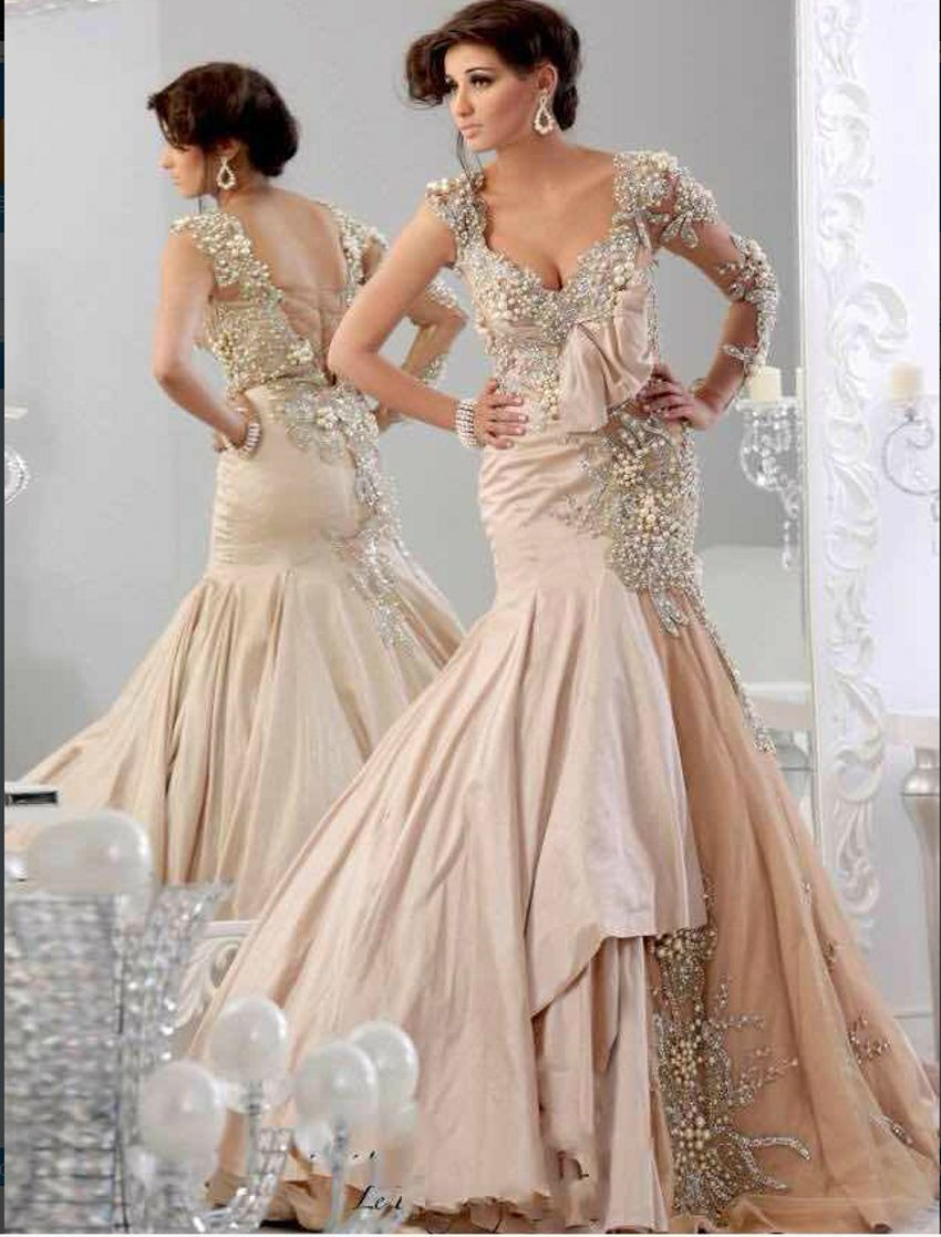 Mermaid Arabic Dresses Prom Dress Evening Dress Party Muslim wedding ...