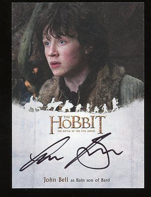 The Hobbit Battle of the Five Armies AUTO Autograph - John Bell as BAIN SON