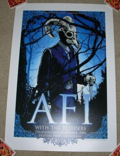 AFI concert gig poster print MELBOURNE 11-16-06 2006 silkscreen tour Joe Whyte