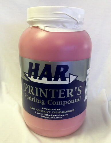 HAR Padding Compound Red for Making Notebooks - Gallon   8111