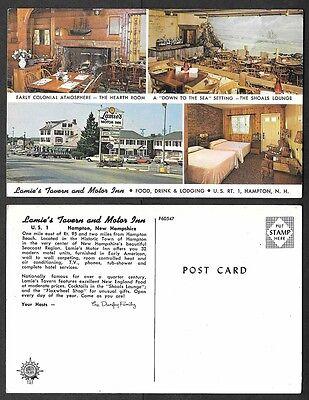 Old New Hampshire Postcard   Hampton   Lamies Tavern And Motor Inn