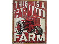 If It Ain/'t Red Farmall TIN SIGN vintage tractor metal farm garage poster 1664