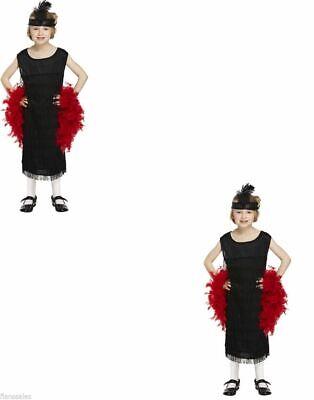 Kinder Flapper Kleid Mädchen Kostüm - Flapper Mädchen Kostüm Schwarz