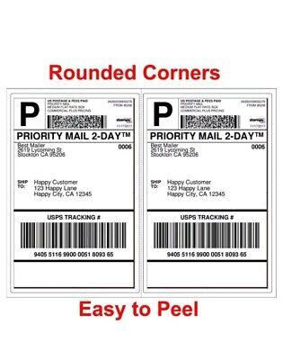 100 8.5 X 5.5 Xl Premium Shipping Half-sheet Self-adhesive Ebay Paypal Labels