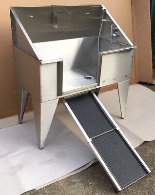 Animelle large stainless steel dog pet grooming bath tub bathtub UK MANUFACTURED