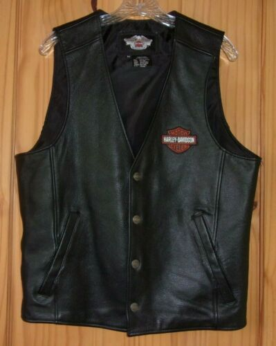 Harley-Davidson Black Leather Vest, Men