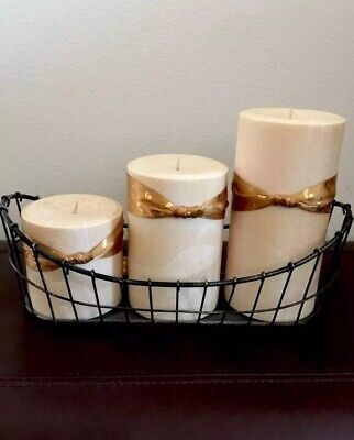 Iron Wire Candle Holder Holds 3 Large Candles Durable Durable Candle Holder
