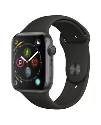 Apple Watch Series 4 44mm Space Grey Black Sports Band GPS (See Details)