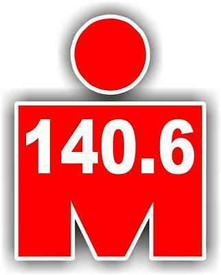 "2"" Iron MAN 140.6 Phone Decal Sticker Car Window Running Jogging Marathon"