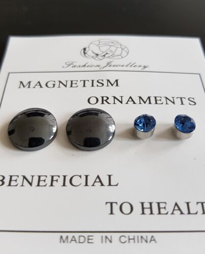 Abnehmen Gewichtsverlust-Ohrringe 2 Paar Diät Akupunktur Magnettherapie Energie