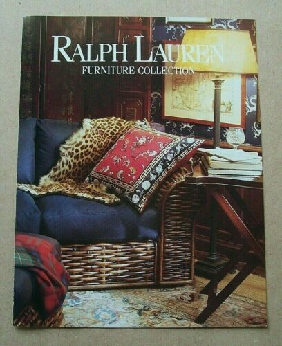 Ralph Lauren Furniture Collection 3-page Ad Vintage/Magazine/Print/Fashion