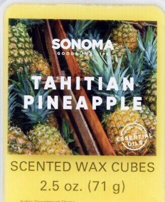 New Sonoma Scented Wax Cubes Melt - Tahitian Pineapple 🍍 - mango, sugar cane Mango Sugar Cane