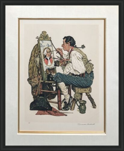 """Norman Rockwell """"ye Pipe And Bowl"""" 1976 