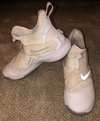 Men's Lebron James Solider 12s White Basketball Shoes Size 8