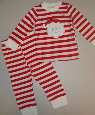 Smocked Auctions Christmas Santa Clause Striped 2-piece Pajamas Set 18 Months  - Smocked Christmas Pajamas