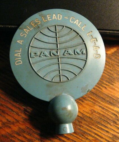 Pan Am American Airlines Rotary Phone Dialer - Vintage Reservation Travel Agent