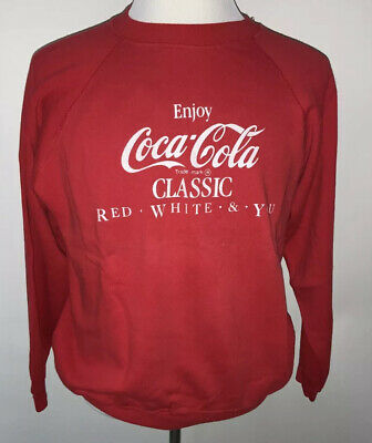 Medium Vintage Hanes Coca Cola Sweatshirt Crewneck  Red, White & You