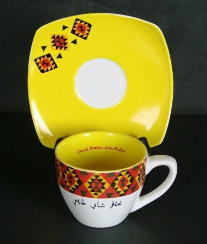 Vintage Lipton Tea Cup & Saucer Chinese Oriental Signed Advertising Collectible
