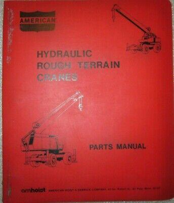 American Crane Hydraulic Rough Terrian Cranes Parts Manual Catalog Book Original