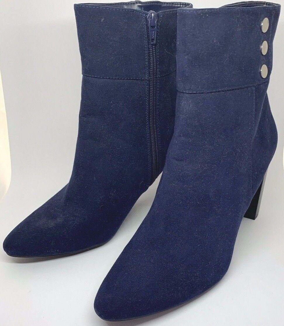 Ladies Ankle Bootie Boots Navy Blue Jones New York Kacee Siz