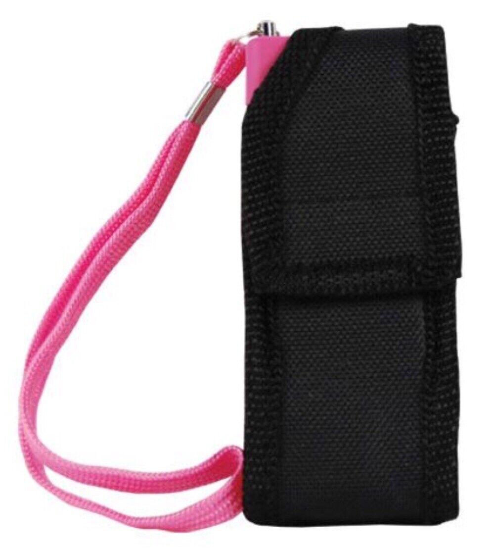 Mini Hand Pocket Stun Gun PINK Rechargeable 20 Million Volt LED W/ Taser HOLSTER - $18.97