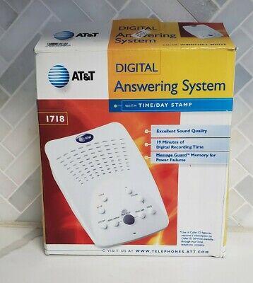 AT&T Digital Answering Machine  Model #1718 Windchill White Open Box