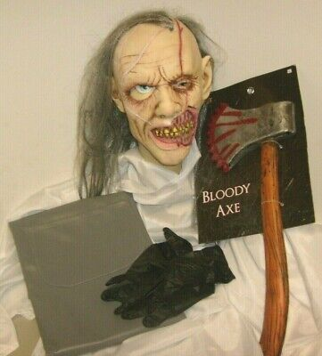 Psycho Killer Halloween Costumes ( Serial killer Psycho AXE KILLER HALLOWEEN COSPLAY HORROR MOVIE COSTUME MASK)
