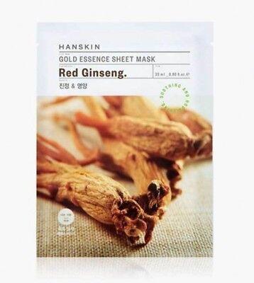 ([Hanskin] Gold Essence Sheet Mask 23ml x 5ea / Red Ginseng)