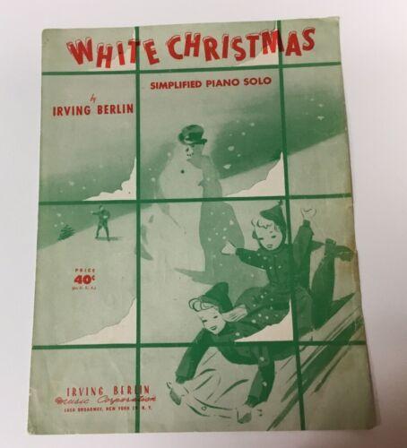 White Christmas By Irving Berlin 1943 Original Sheet Music - $3.50