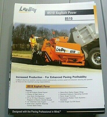 Factory Oem Dealership Brochure Leeboy 8510 Paver 1-07 Asphalt