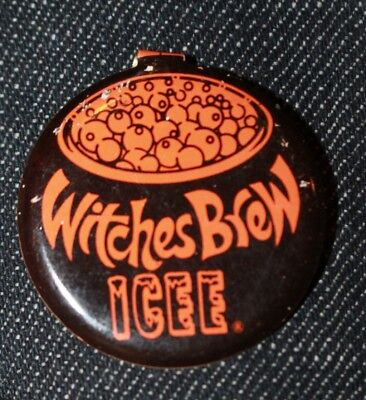 Witches Brew Icee Lapel Button tab fold slushie drink - Witches Brew Drink