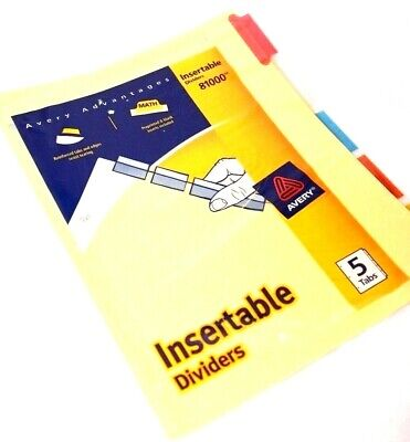 Avery Advantages Insertable Dividers 5 Tabs 81000