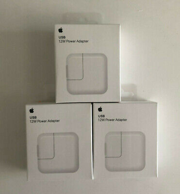 Lot 3x Original 12W USB Power Adapter Wall Charger for Apple iPad 2 3 4 Air
