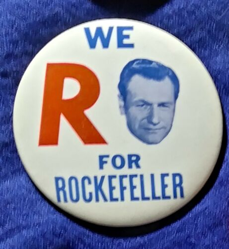 NELSON ROCKEFELLER 4-TERM NEW YORK GOVERNOR 1964 PRES HOPEFUL PINBACK BUTTON