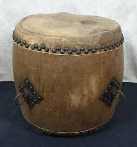 New Guinea 1940s vintage 28 x 28'' Hand-made drum