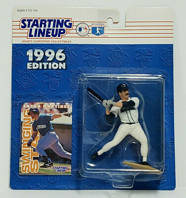 EDGAR MARTINEZ Seattle Mariners Starting Lineup SLU MLB 1996 Action Figure &Card Seattle Mariners Action Figure