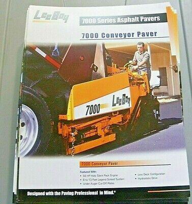 Factory Oem Dealership Brochure Leeboy 7000 Conveyor Paver Asphalt