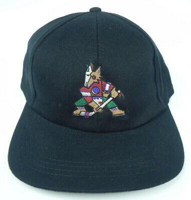 f4556e019fafe PHOENIX COYOTES NHL VINTAGE 1990s BLACK SNAPBACK THROWBACK CAP HAT NWT! RARE