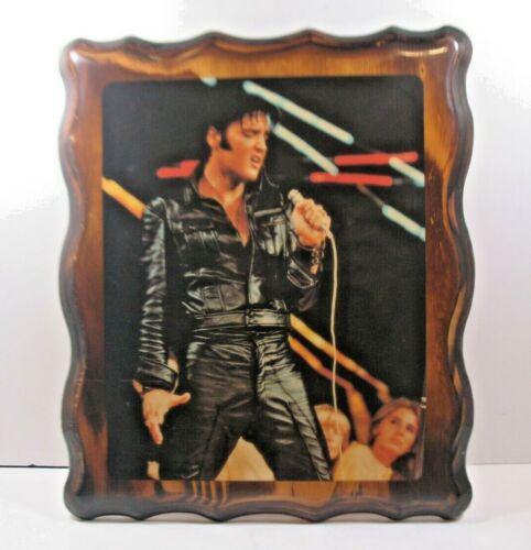 "Vintage 1968 Elvis Presley Picture - Wood Frame - High Gloss Finish - 10"" X 12"""