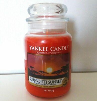 YANKEE CANDLE SERENGETI SUNSET Giara grande fragranza rara NUOVA