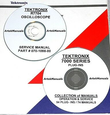 Tektronix Ops Service Manuals For The R7704 Oscilloscope 54 Plug-ins