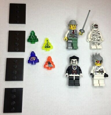 👻 LEGO Monster Fighters Minifigures Lot w/Moon Stones & Stands 9467 9468 9464