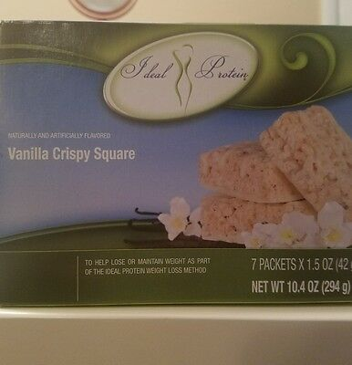 Ideal Protein Vanilla Crispy Square Bundle of 2 Boxes ⛟ SAME DAY SHIPPING
