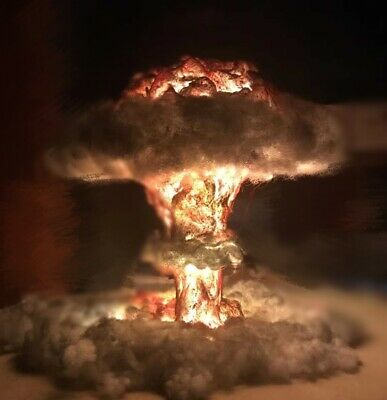 Simulation Nuclear Explosion Model Mushroom Cloud USB Lamp Creative Night Light
