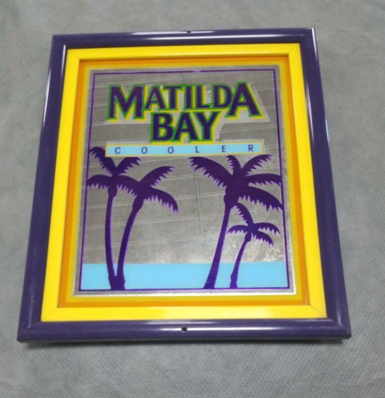 Vtg 80s Matilda Bay Cooler Bar Mirror Man Cave Beer Sign Barware Wall Decor