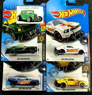 Hot Wheels  - Lot of 4 - FORD - 2005 Mustang - K-Mart Excl. - Dream Garage - C50