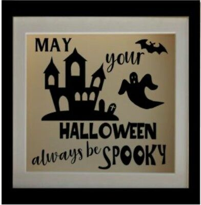 May your Halloween Always be Spooky  Halloween Sticker for Shadow/Box Frame DIY - Diy Spooky Halloween Decorations